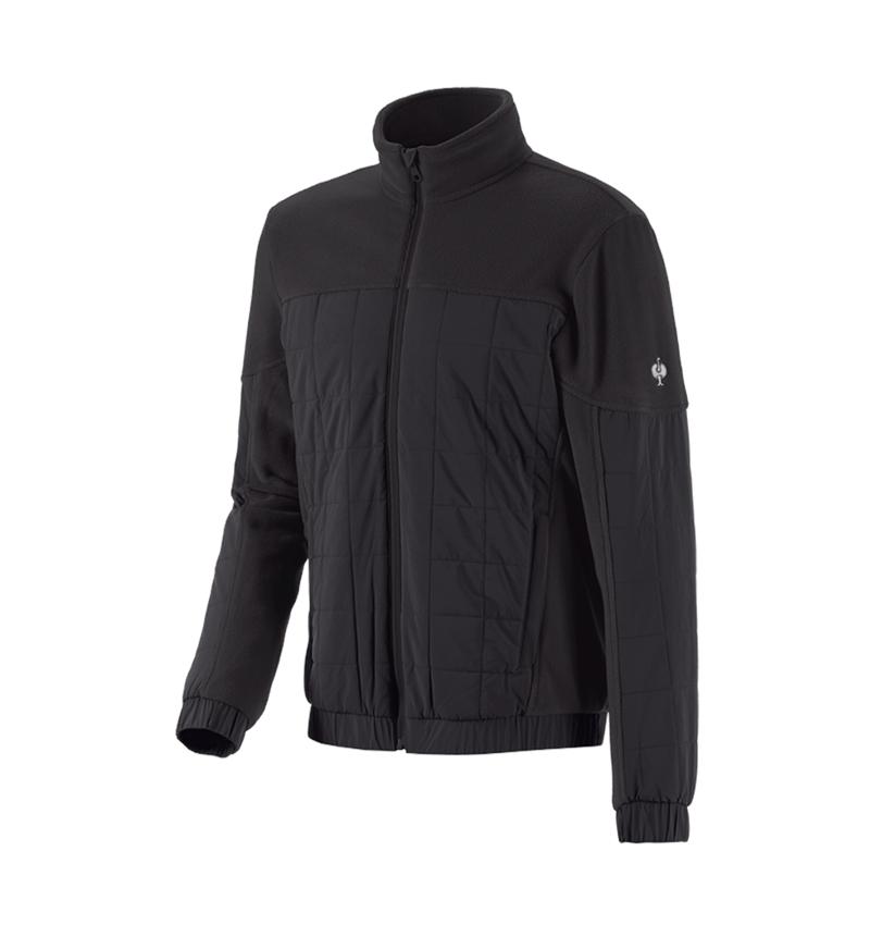 Vestes de travail: Veste en laine polaire hybride e.s.concrete + noir