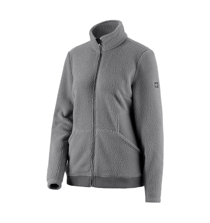 Work Jackets: Faux fur jacket e.s.vintage, ladies' + pewter