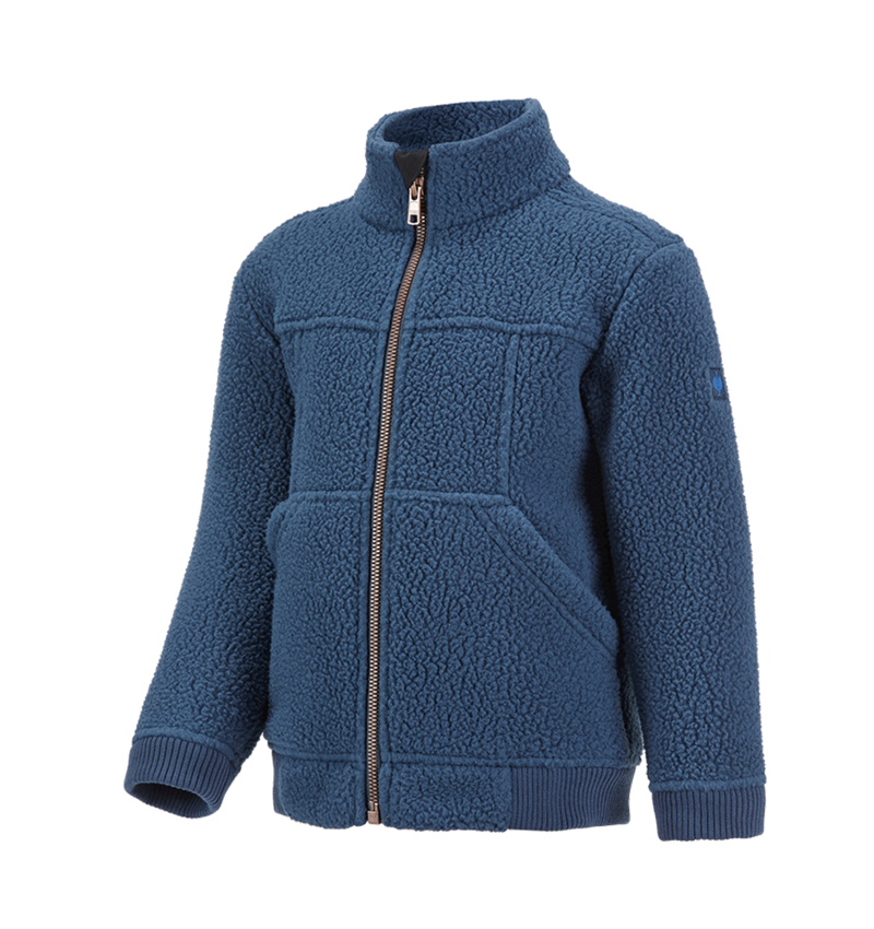 Jacken: Faserpelz Jacke e.s.vintage, Kinder + arktikblau