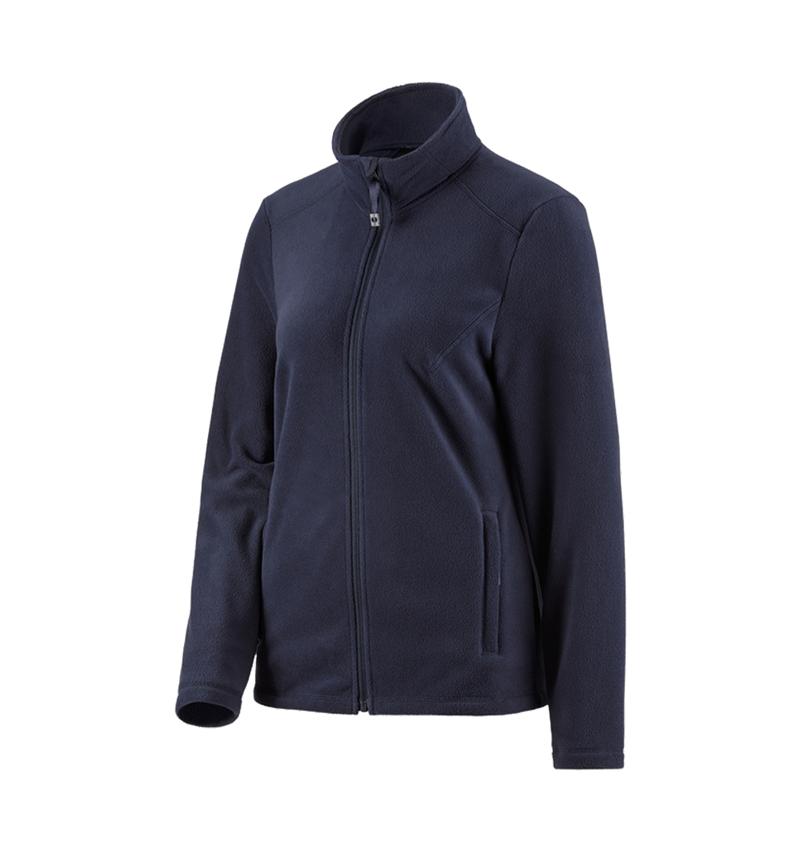 Work Jackets: e.s. Fleece jacket CI, ladies' + navy
