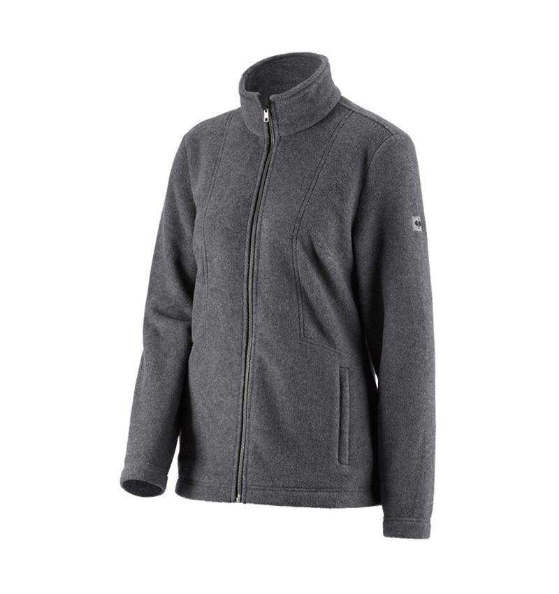 Work Jackets: Fleece jacket e.s.vintage, ladies' + black