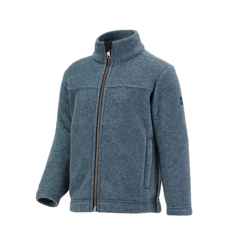Vestes: Veste en laine polaire e.s.vintage, enfants + bleu arctique