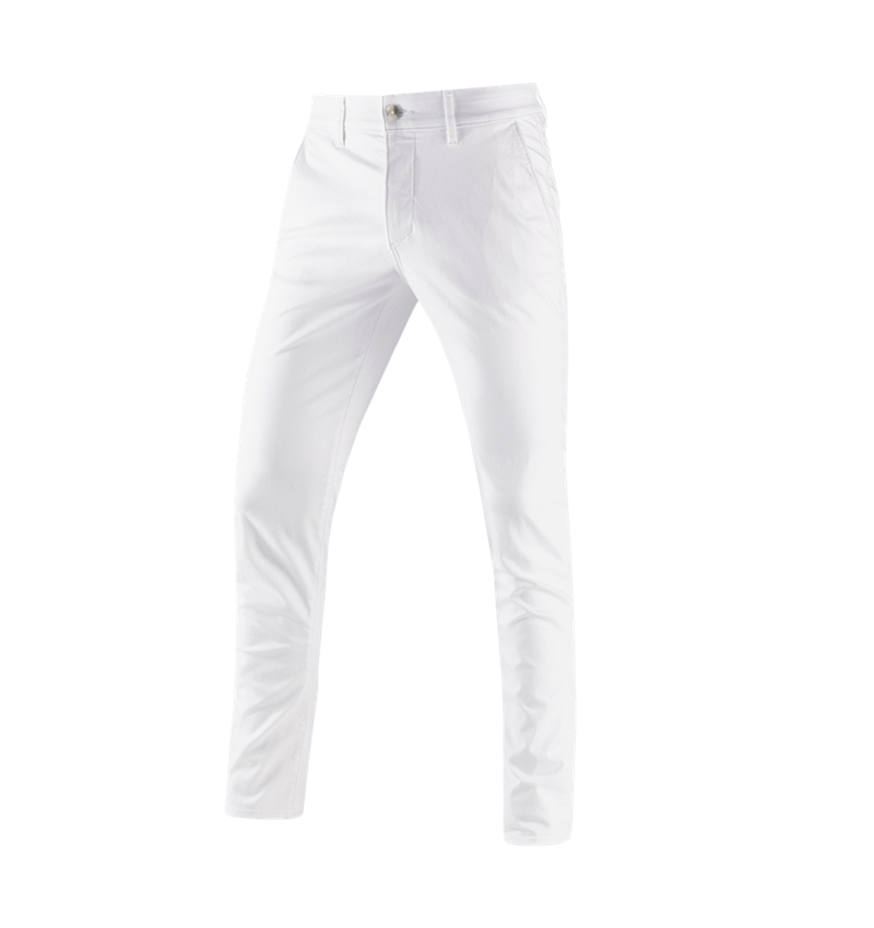 Work Trousers: e.s. 5-pocket work trousers Chino + white