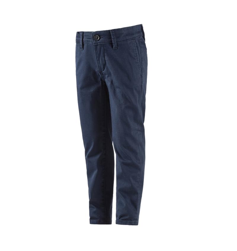 Pantalons: e.s. Chino, enfants + bleu foncé