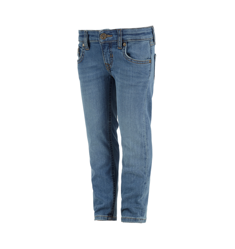 Pantalons: e.s. Jeans stretch à 5 poches, enfants + stonewashed