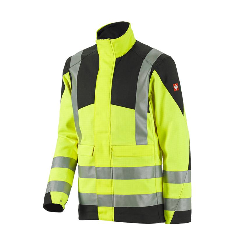 Vestes de travail: e.s. Veste de travail multinorm high-vis + jaune fluo/noir