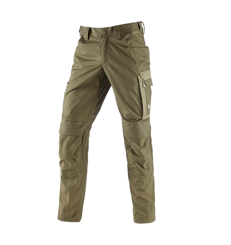 Work Trousers: Trousers e.s.concrete light + mudgreen/stipagreen