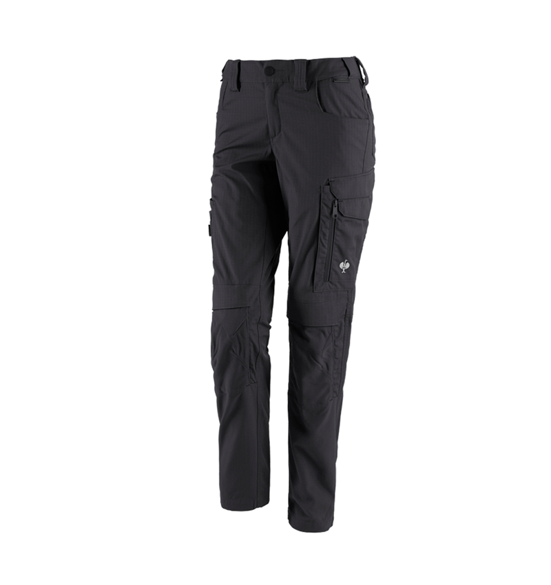 Work Trousers: Trousers e.s.concrete solid, ladies' + black