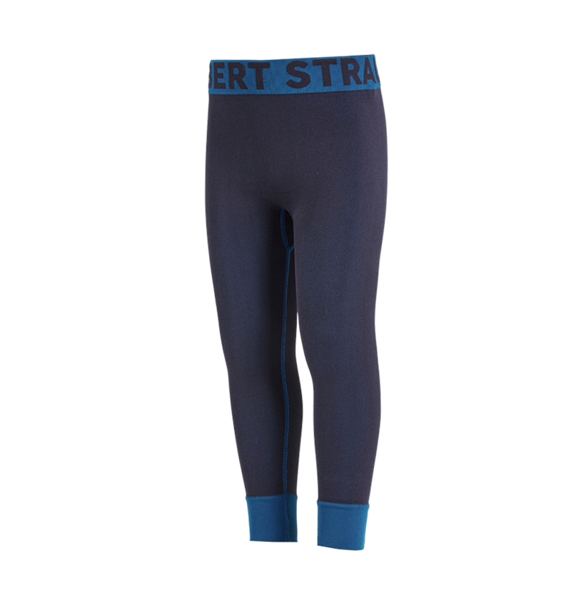Funktionsunterwäsche: e.s. Funktions Long-Pants seamless - warm, Kinder + dunkelblau