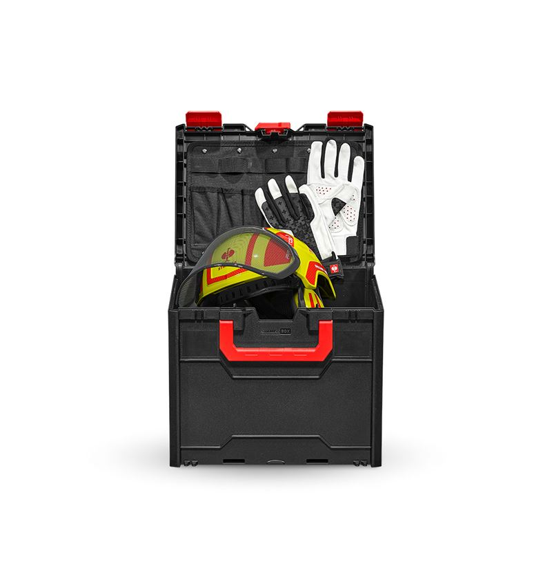Personal Protection: Forsthelm Protos Set + STRAUSSbox 340 midi + high-vis yellow/fiery red