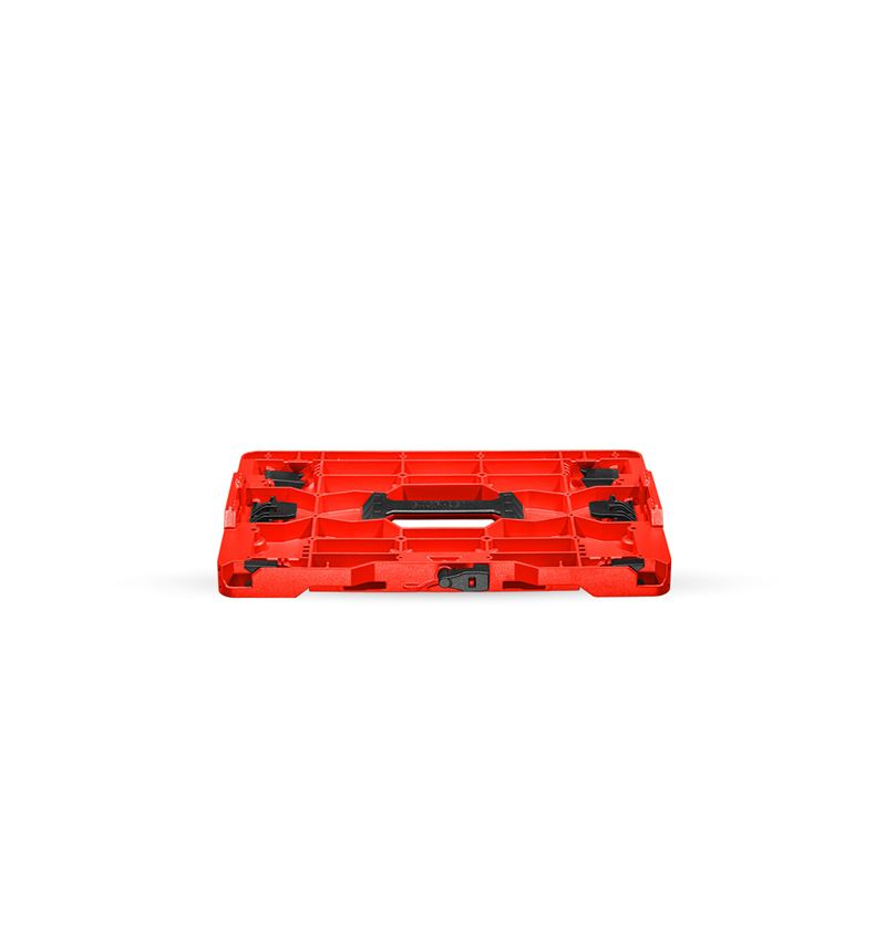 Werkzeugkoffer: STRAUSSbox Hybrid Adapter Platte + rot/schwarz