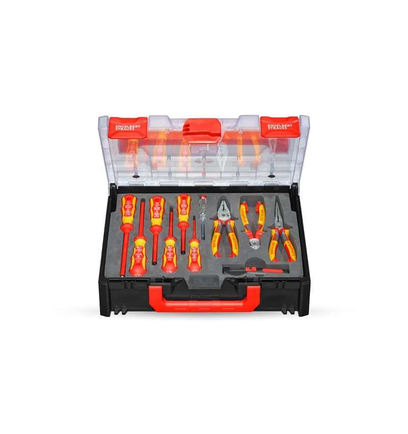 Tool Cases: STRAUSSbox tool set 118 Electro classic