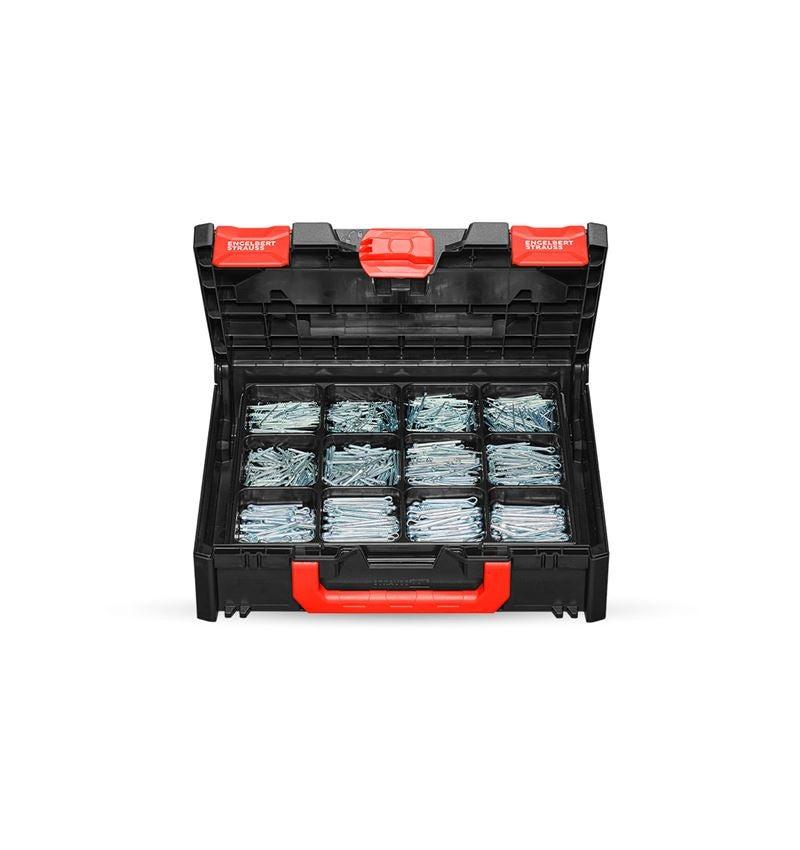 Kleinteile-Sortimente: Splinte-Sortiment DIN 94 in STRAUSSbox 118 midi