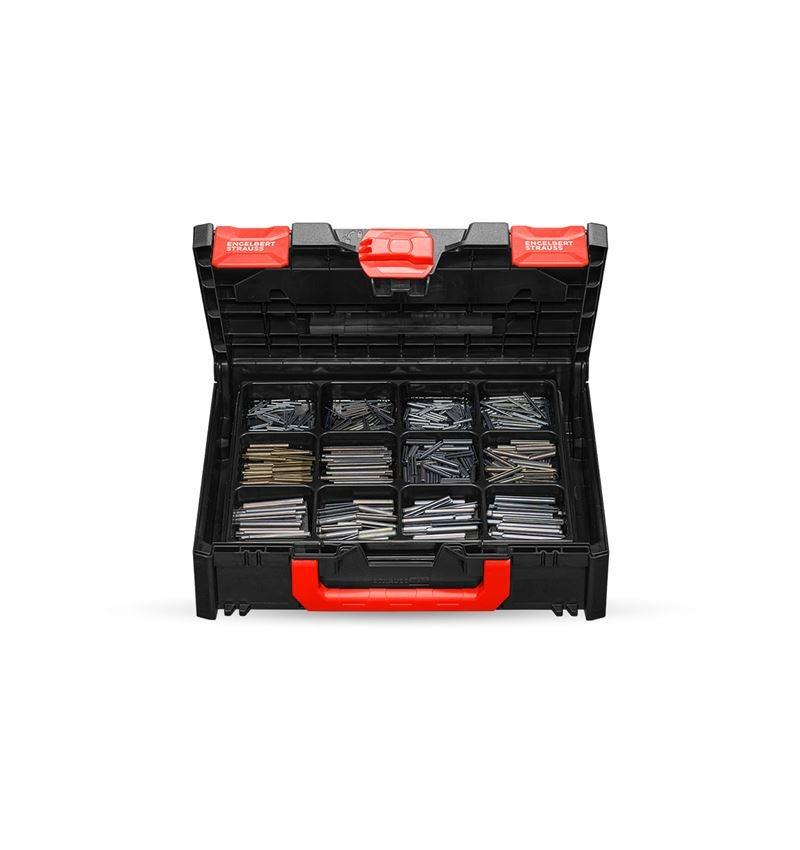 Kleinteile-Sortimente: Spannhülsen ISO 8752 in STRAUSSbox 118 midi
