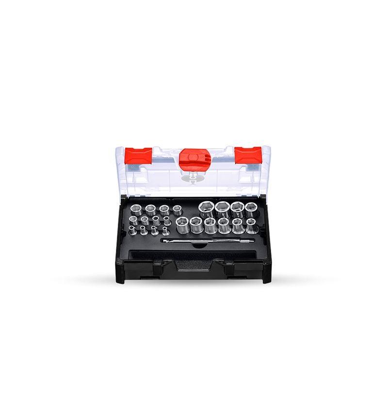Steckschlüssel: Steckschl.-Satz power grip 1/2+1/4 in STRAUSSbox