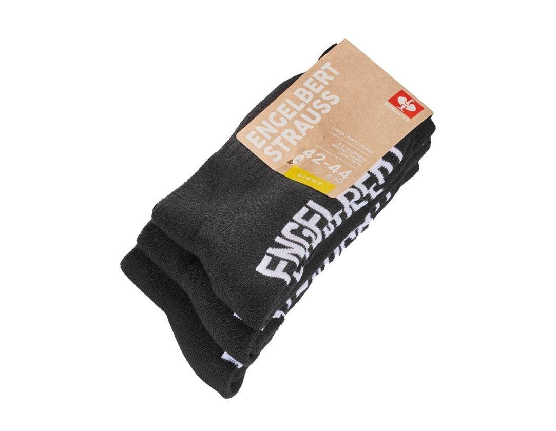 Socken | Strümpfe: e.s. Allround Socken Classic light/high + schwarz