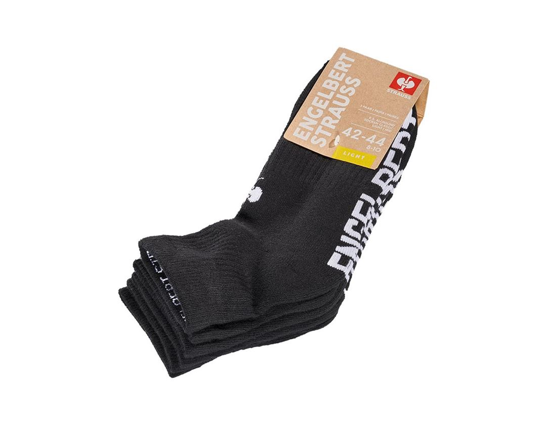 Socken   Strümpfe: e.s. Allround Socken Classic light/mid + schwarz