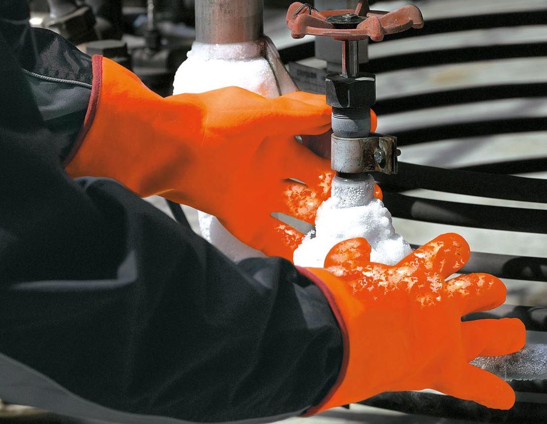 Beschichtet: PVC-Kältehandschuhe