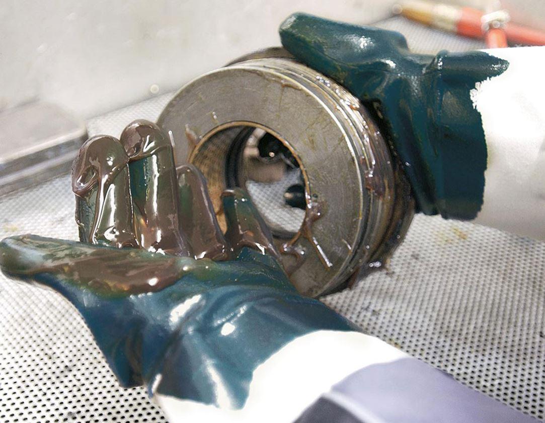 Beschichtet: Nitril-Handschuhe Lith, Stulpe, 12er Pack
