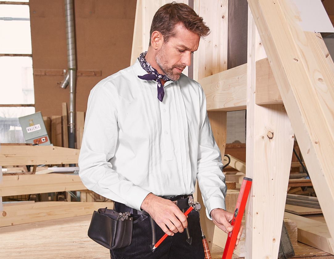 Shirts, Pullover & more: Roofer and Carpenter Shirt + white