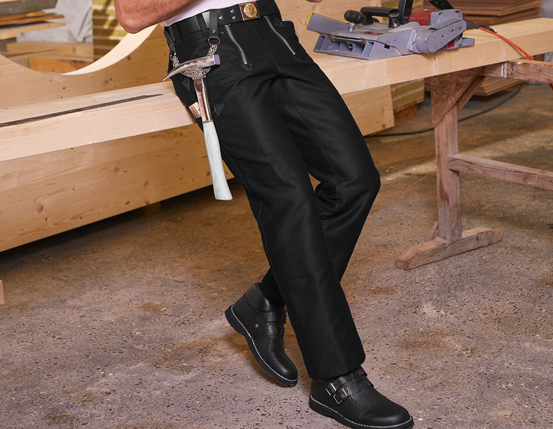 Work Trousers: e.s. Craftman's Trousers without Flare + black