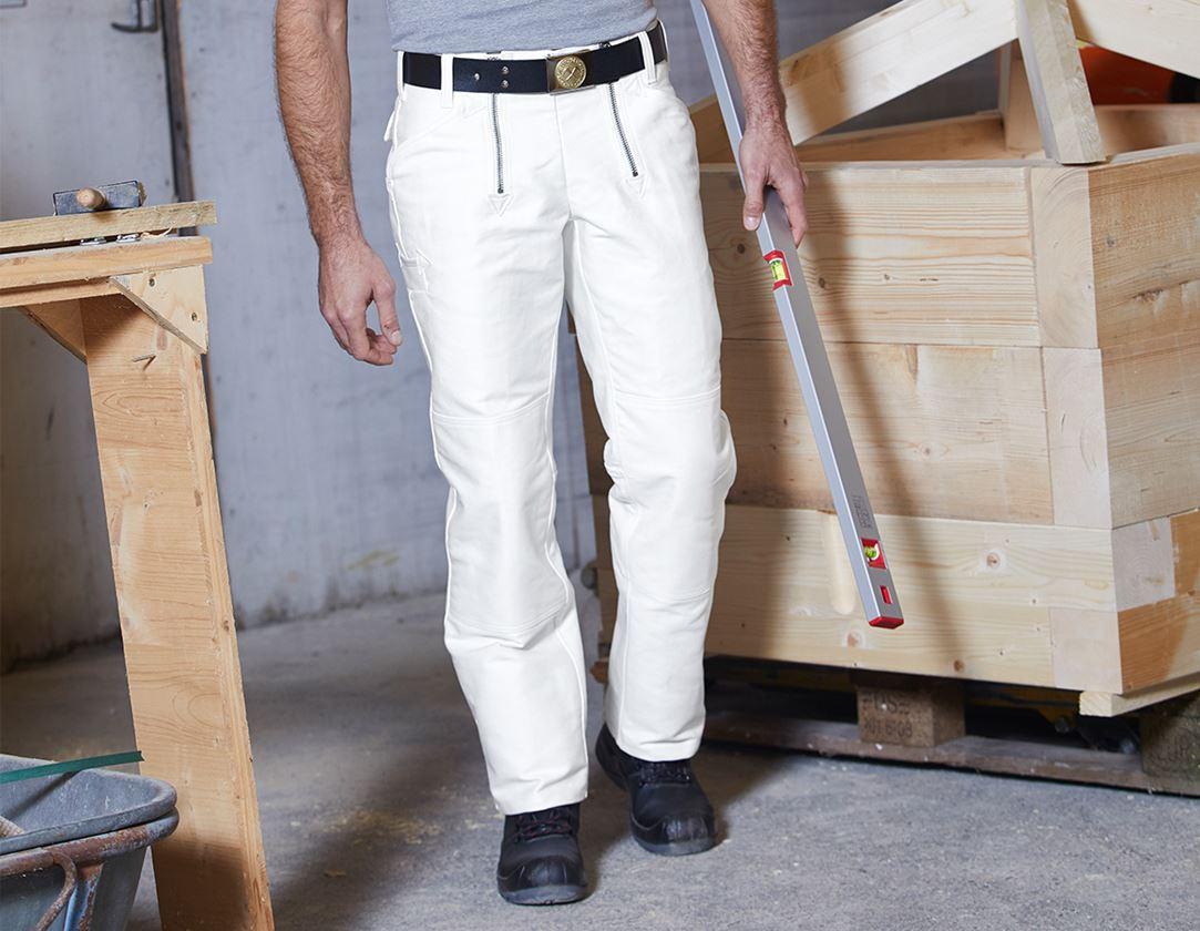 Work Trousers: e.s. Craftman's Work Trousers Bernd + white