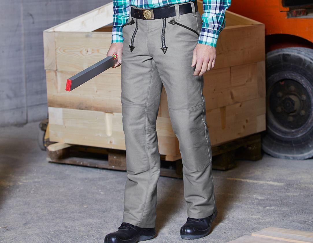 Work Trousers: e.s. Craftman's Work Trousers Albert + grey