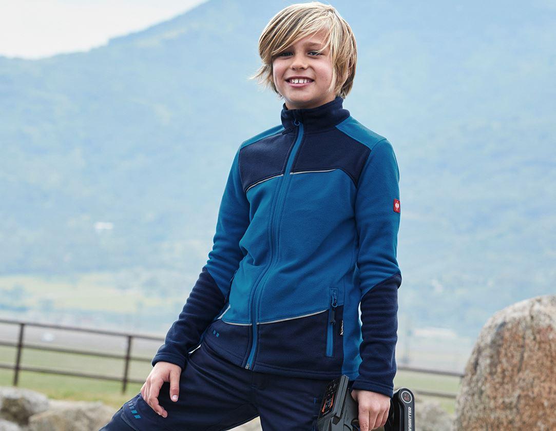 Jacken: Fleece Jacke e.s.motion 2020, Kinder + atoll/dunkelblau