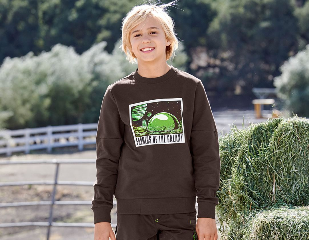Shirts & Co.: e.s. Sweatshirt Mission 2020, Kinder + kastanie
