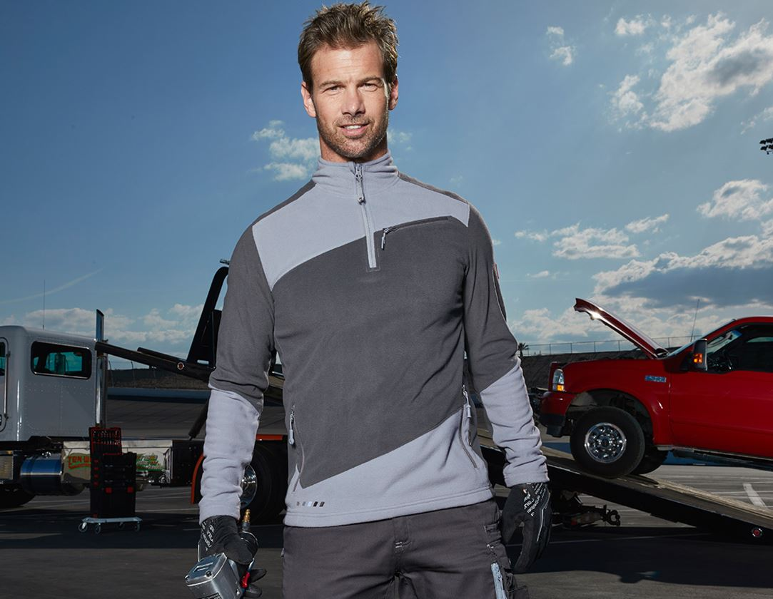 Shirts, Pullover & more: Fleece troyer e.s.motion 2020 + anthracite/platinum