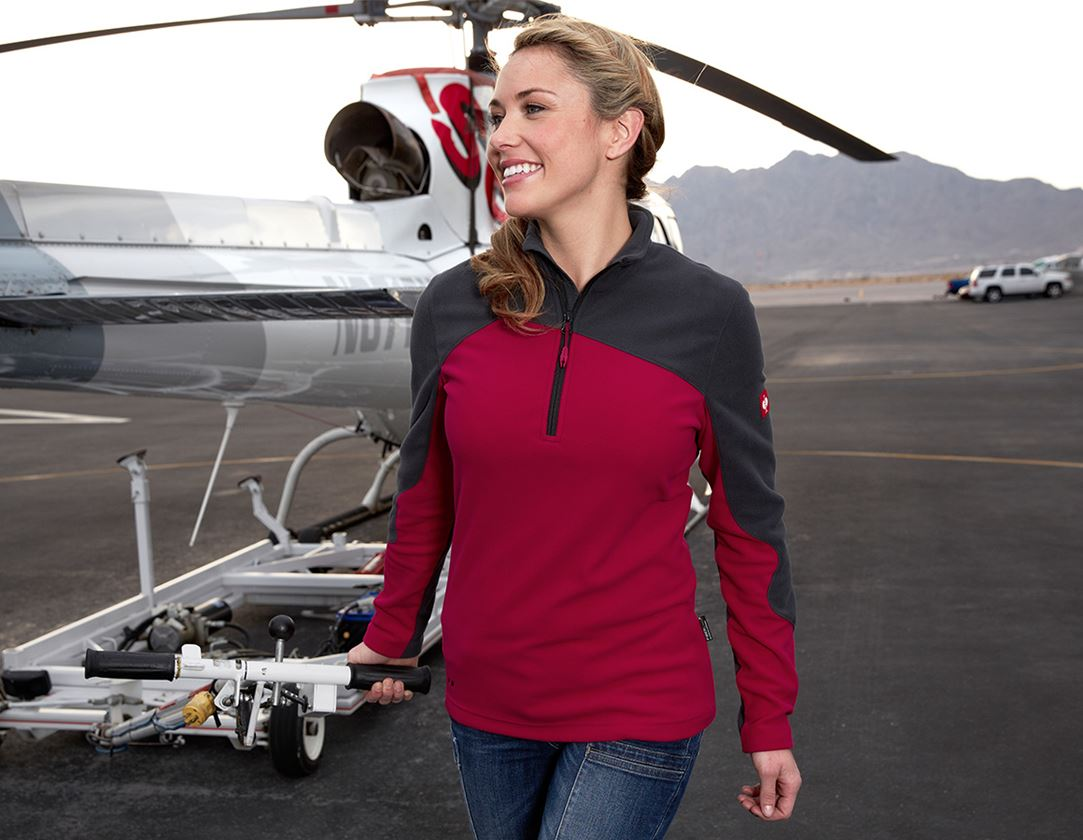 Shirts, Pullover & more: Fleece troyer e.s.motion 2020, ladies' + berry/graphite