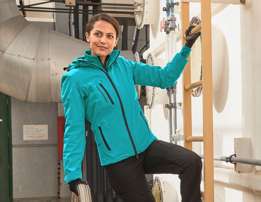 Work Jackets: 3 in 1 functional jacket e.s.vision, ladies' + ocean