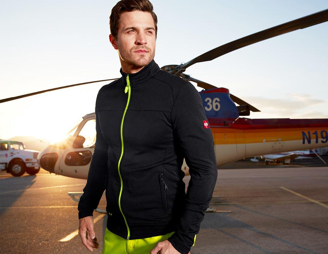 Work Jackets: FIBERTWIN® clima-pro jacket e.s.motion 2020 + black/high-vis yellow