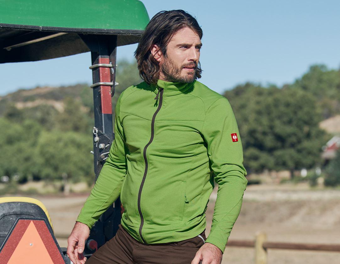 Work Jackets: FIBERTWIN® clima-pro jacket e.s.motion 2020 + seagreen/chestnut