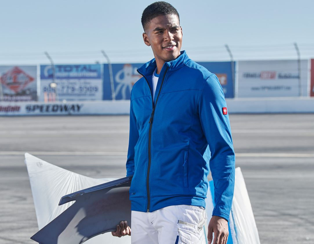 Work Jackets: FIBERTWIN® clima-pro jacket e.s.motion 2020 + gentian blue/graphite