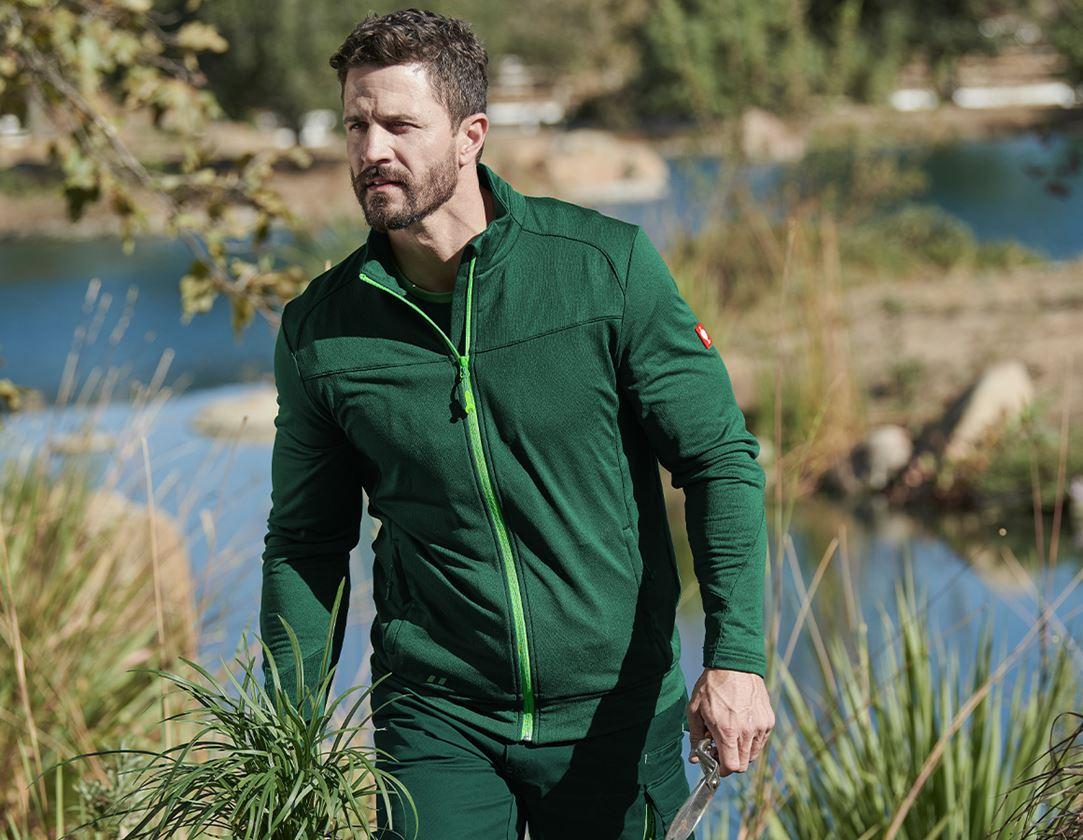 Work Jackets: FIBERTWIN® clima-pro jacket e.s.motion 2020 + green/seagreen