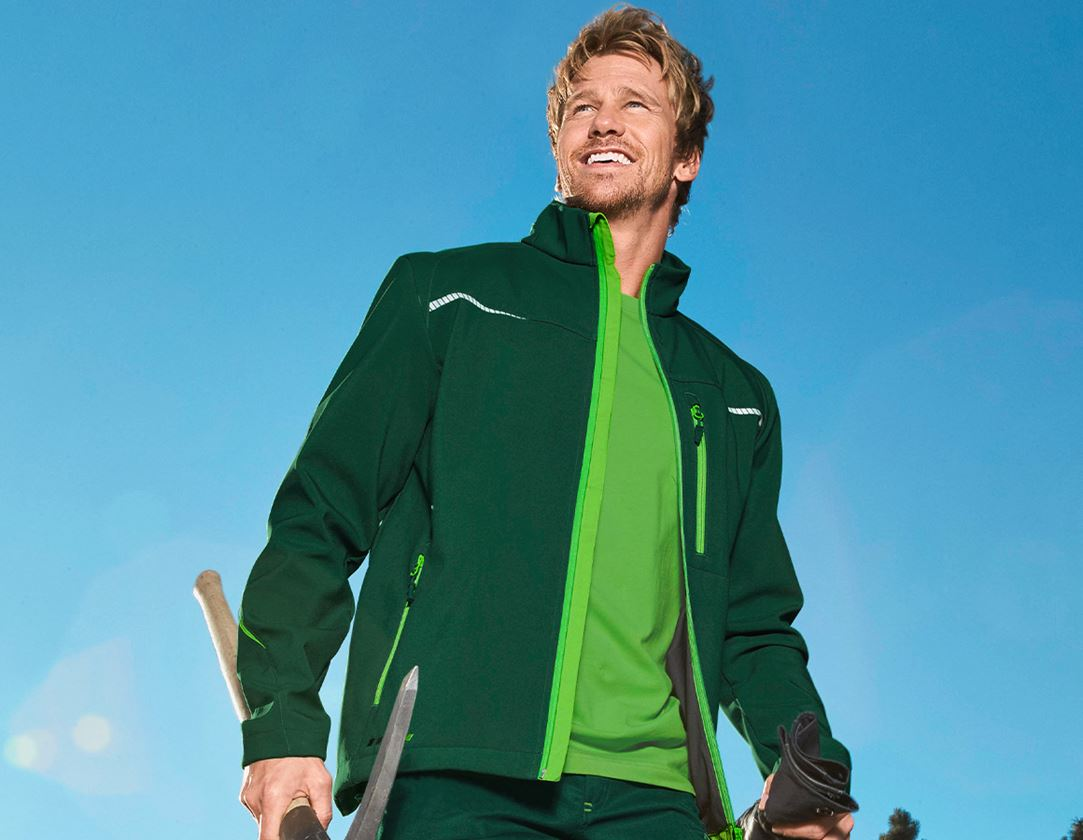 Work Jackets: Softshell jacket e.s.motion 2020 + green/seagreen