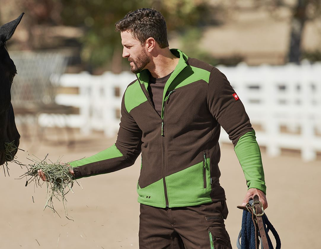Work Jackets: Fleece jacket e.s. motion 2020 + chestnut/seagreen