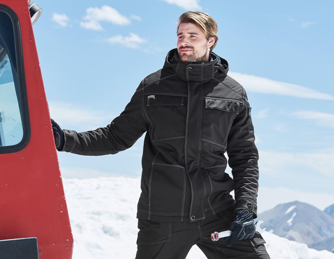 Vestes de travail: Veste Softshell d'hiver e.s.roughtough + noir