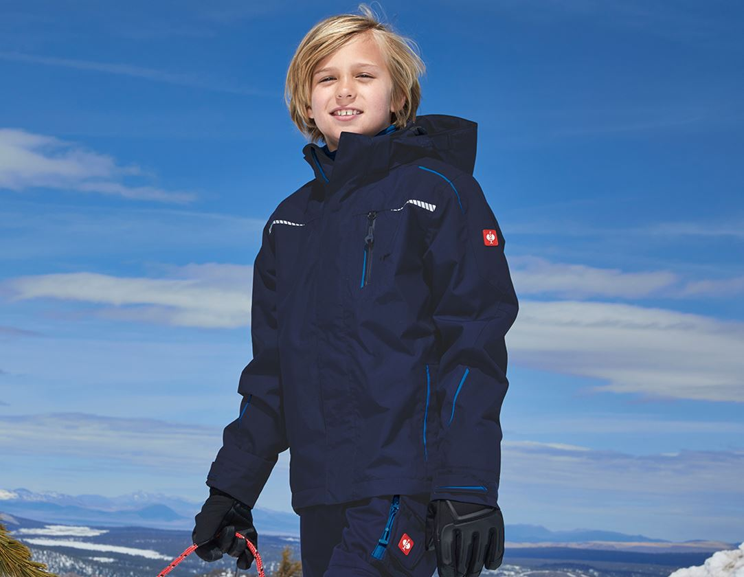 Jackets: 3 in 1 functional jacket e.s.motion 2020,  childr. + navy/atoll
