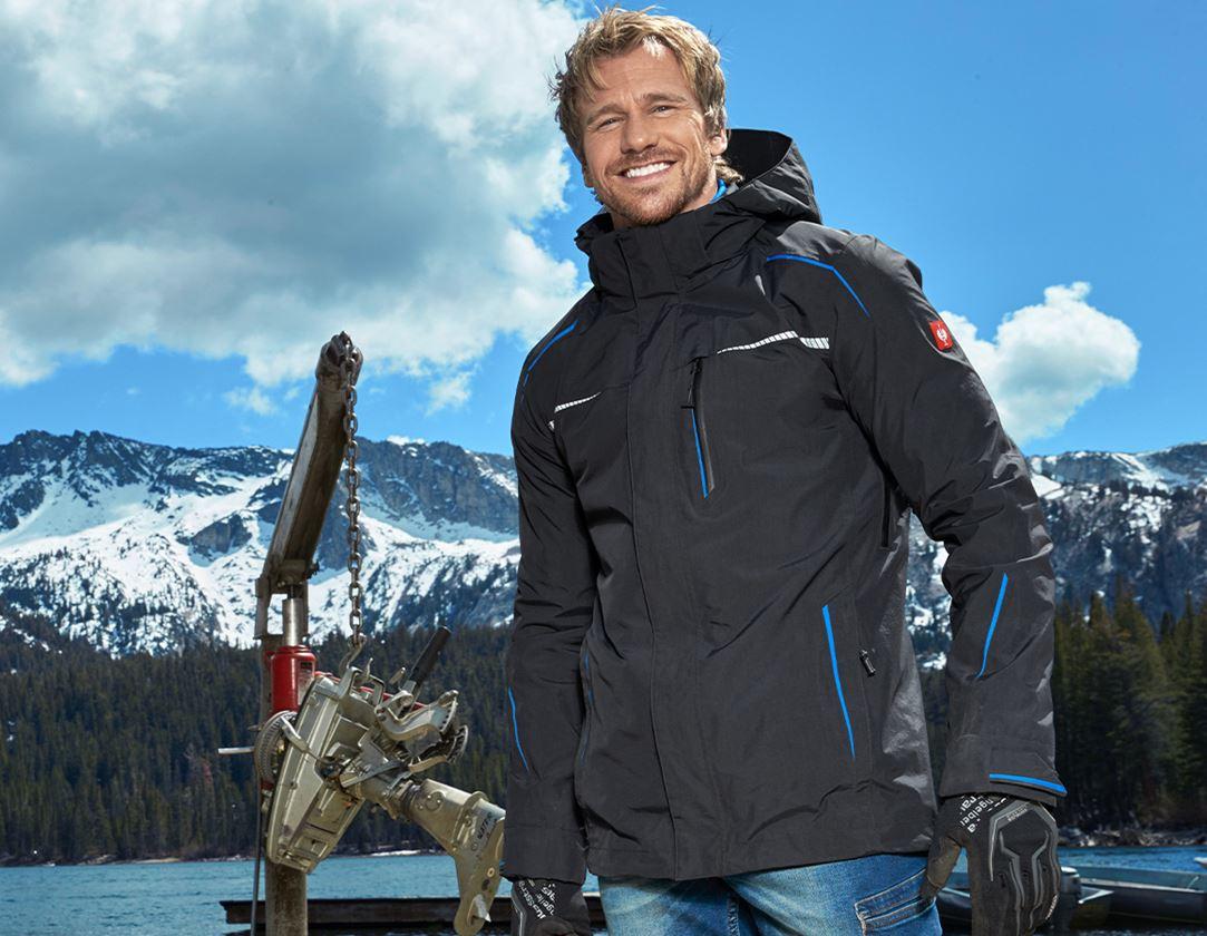 Work Jackets: 3 in 1 functional jacket e.s.motion 2020, men's + graphite/gentian blue