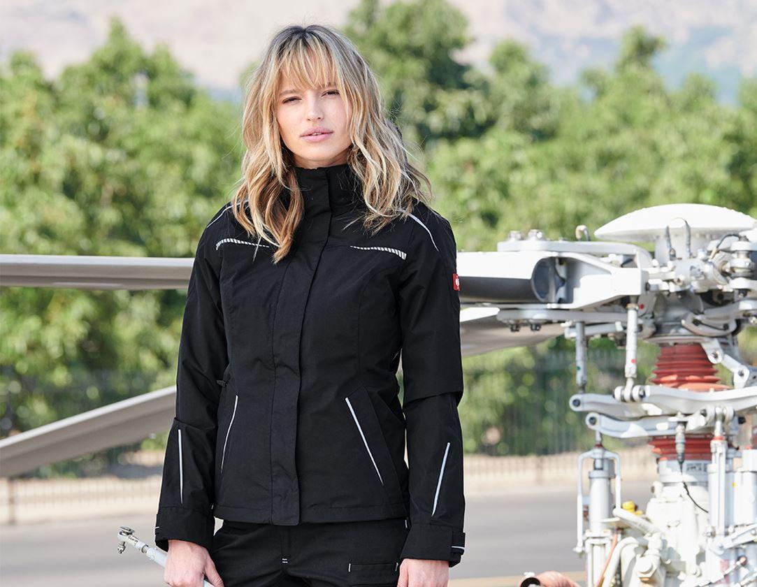 Vestes de travail: Veste fonctionnelle 3 en 1 e.s.motion 2020,femmes + noir/platine