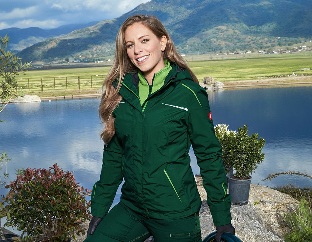 Work Jackets: 3 in 1 functional jacket e.s.motion 2020, ladies' + green/seagreen
