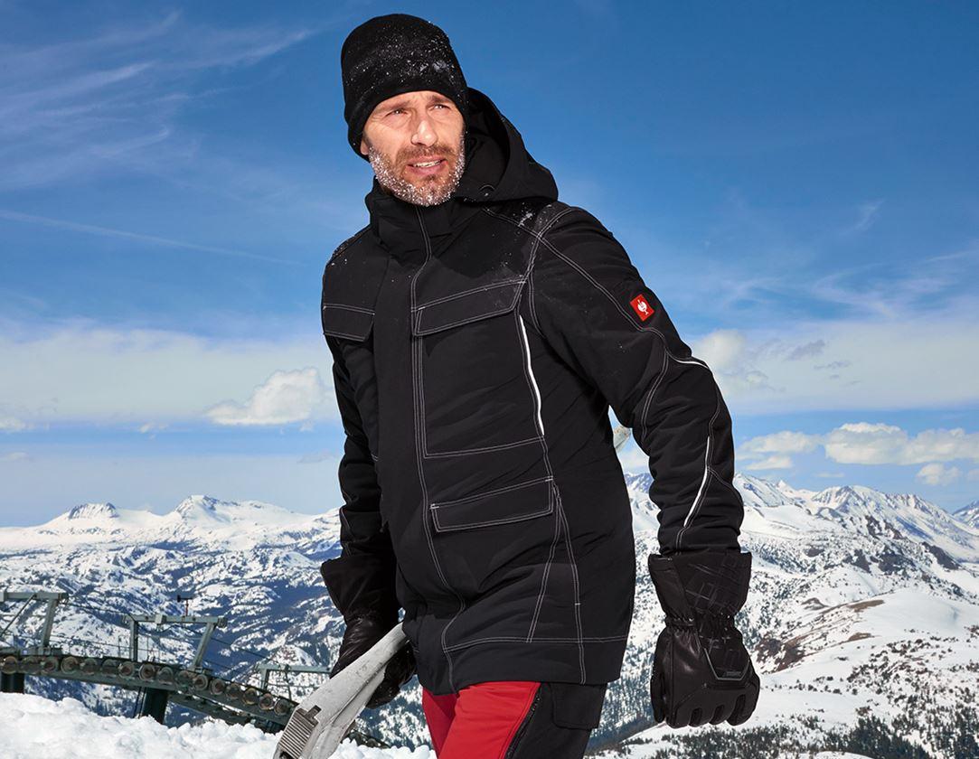 Vestes de travail: Parka snow fonctionnel e.s.dynashield + noir