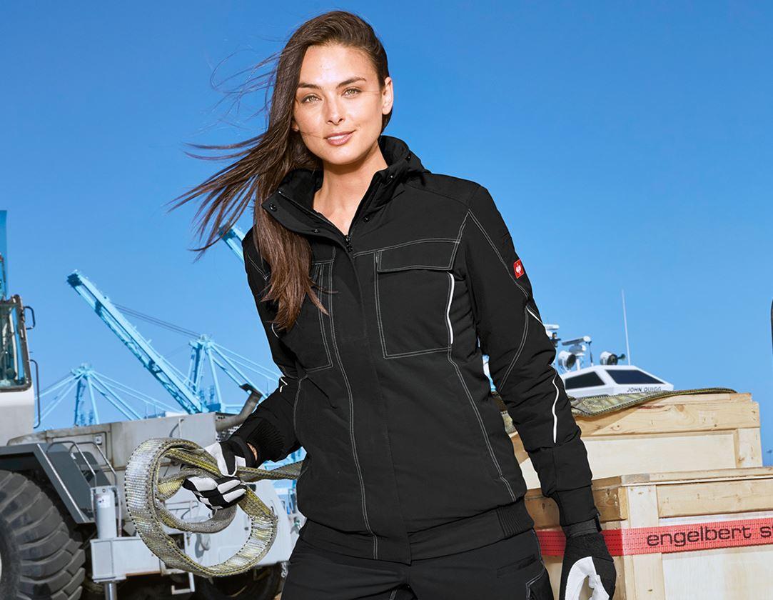 Vestes de travail: Veste de fonction d'hiver e.s.dynashield, femmes + noir
