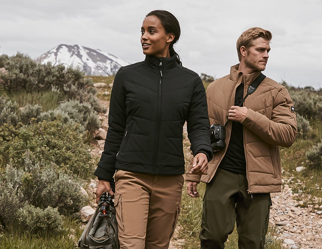 Vestes de travail: Stunt'n'Media Solid Merino Jacket, Ladies' + black
