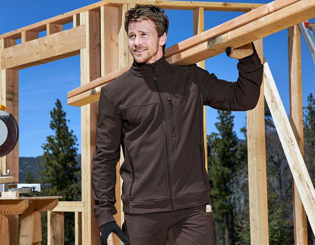 Work Jackets: Jacket shellloft e.s.dynashield + chestnut