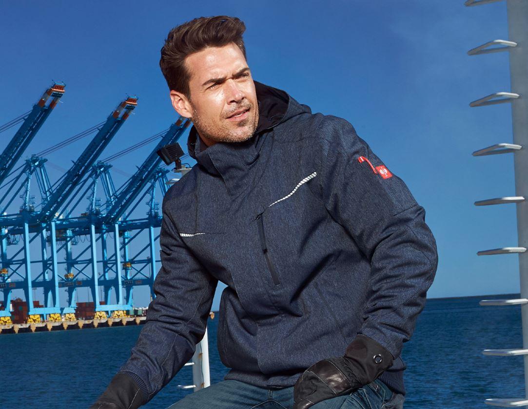 Work Jackets: Winter functional pilot jacket e.s.motion denim + indigo