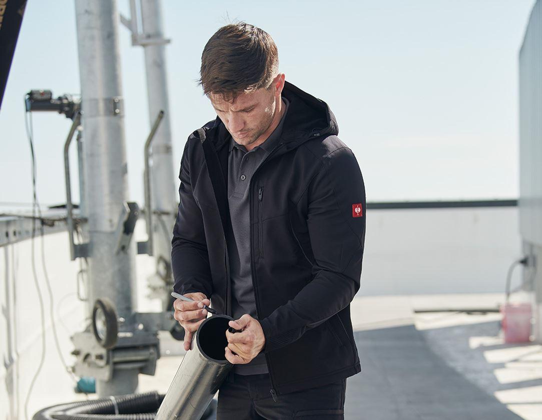 Work Jackets: Softshell jacket e.s.vision + black