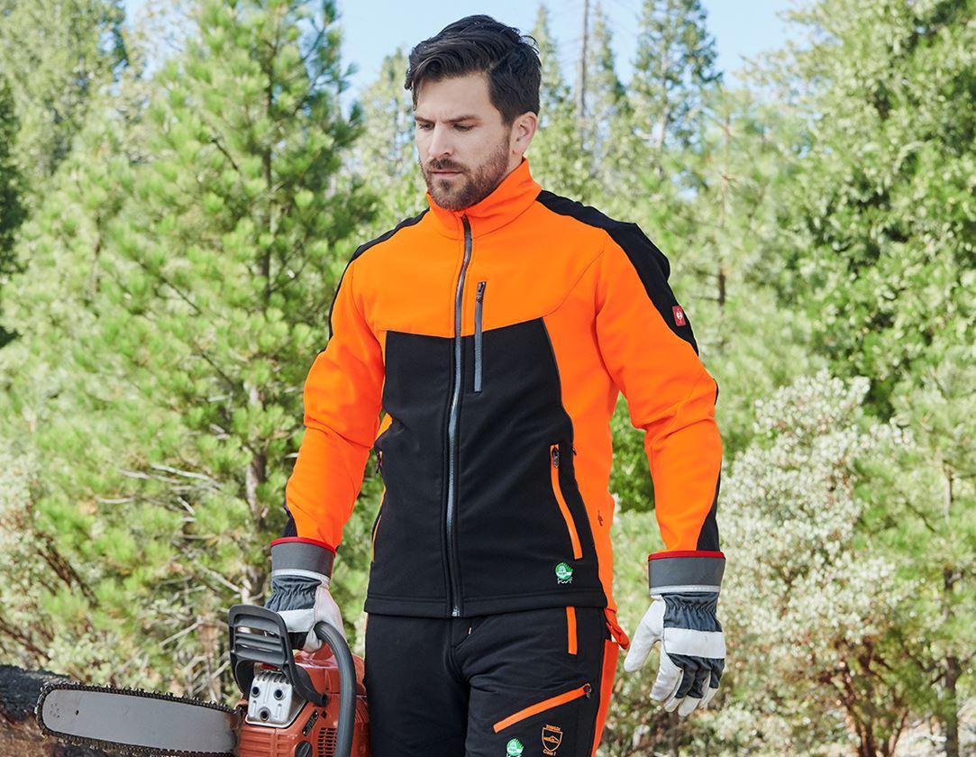Vestes de travail: Veste de forestier e.s.vision + orange fluo/noir